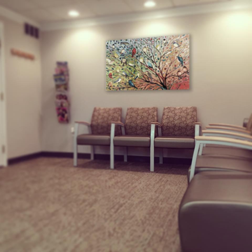 reception area seating Shin Orthodontics Rockville