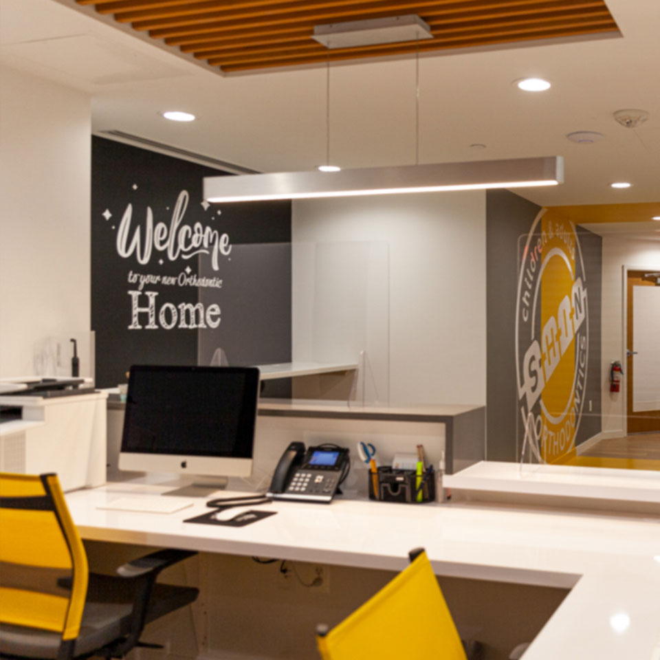 reception area Shin Orthodontics in Potomac MD